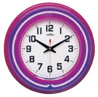 Purple Quartz Neon Clock